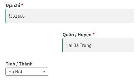 Thêm tỉnh thành Việt Nam